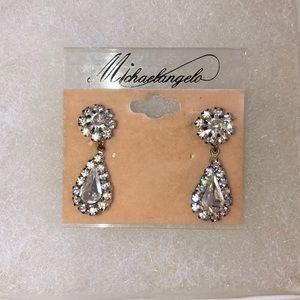Vintage style bridle drop crystal shape earrings